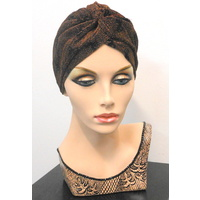 Midnight Copper Turban Headwear