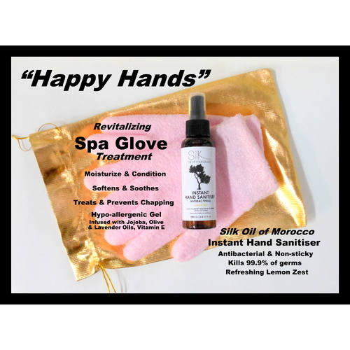 Happy Hands Care Pack Sanitiser & Treatment Gloves