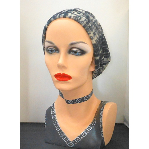 Charcoal Waves Turban Headwear