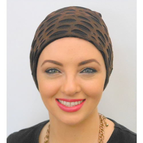 Distressed Look Cocoa Turban Headwear